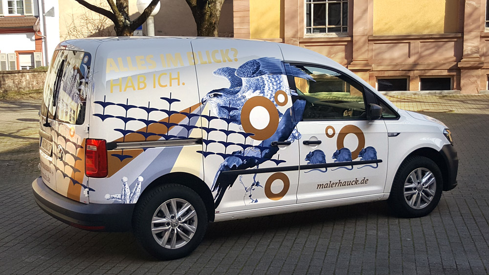 Malerhaucks neuestes Auto – für den Betriebsmeister Herr Habicht
