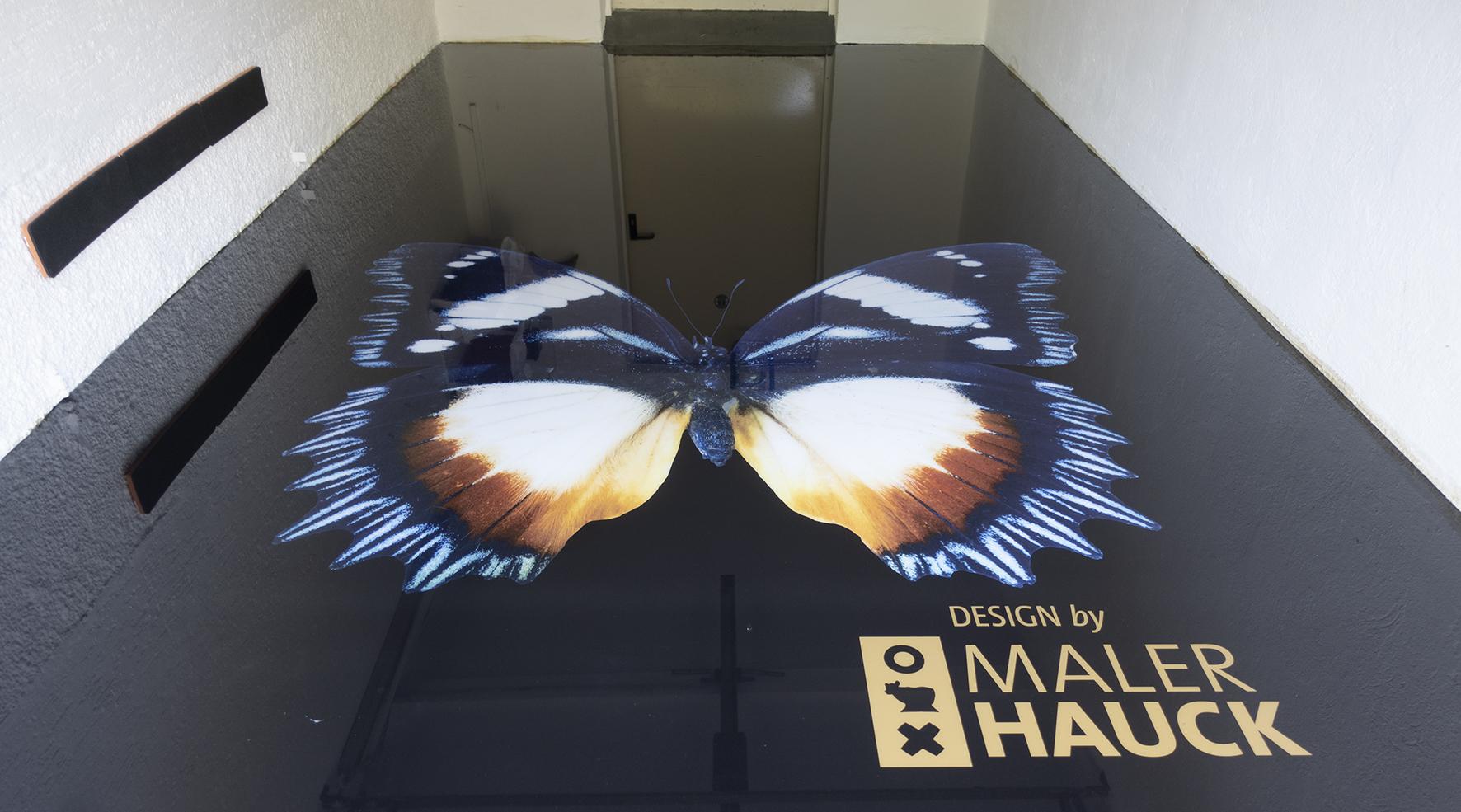 Malerhauck Schmetterlingmotiv 3DBoden